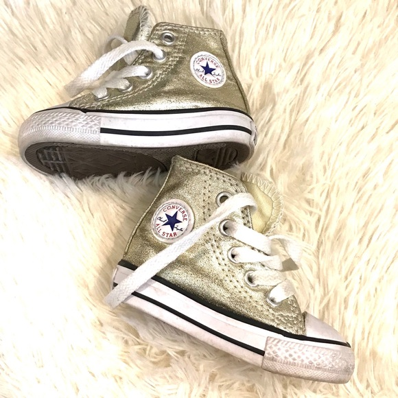 Converse Shoes | Gold Tone Baby Size 3